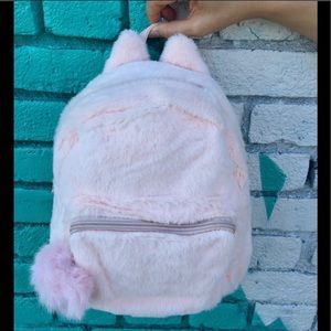 Faux Fur Cat Ear Backpack
